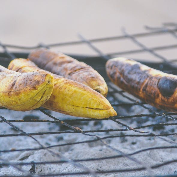 plantain on bbq grill