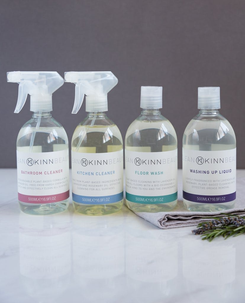 selection of natural cleaning products