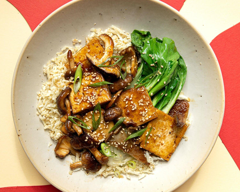 tofu and mushroom stir sfy