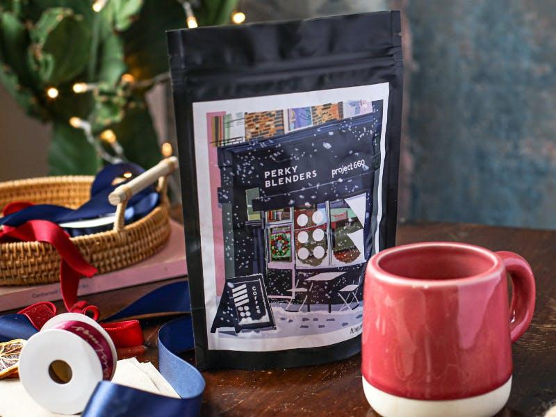 festive. coffee scene