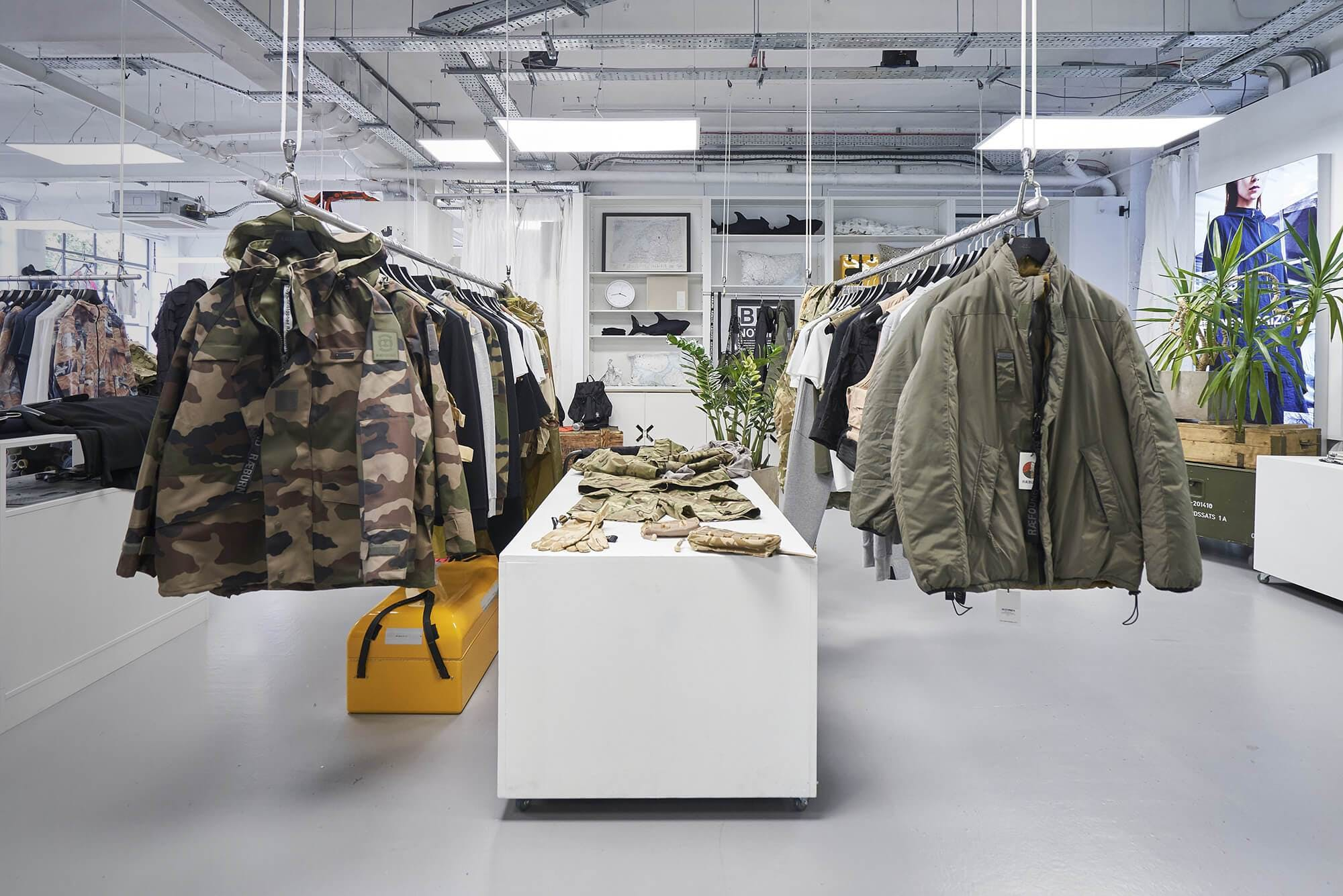 inside a clothes shop