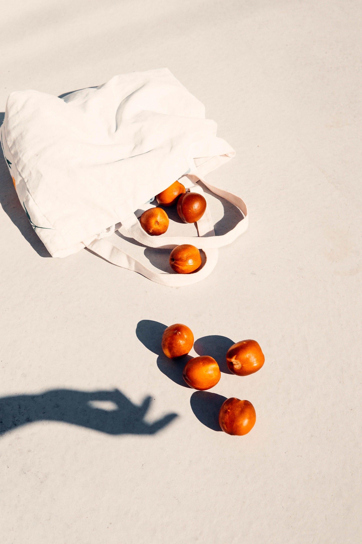a bag of peaches