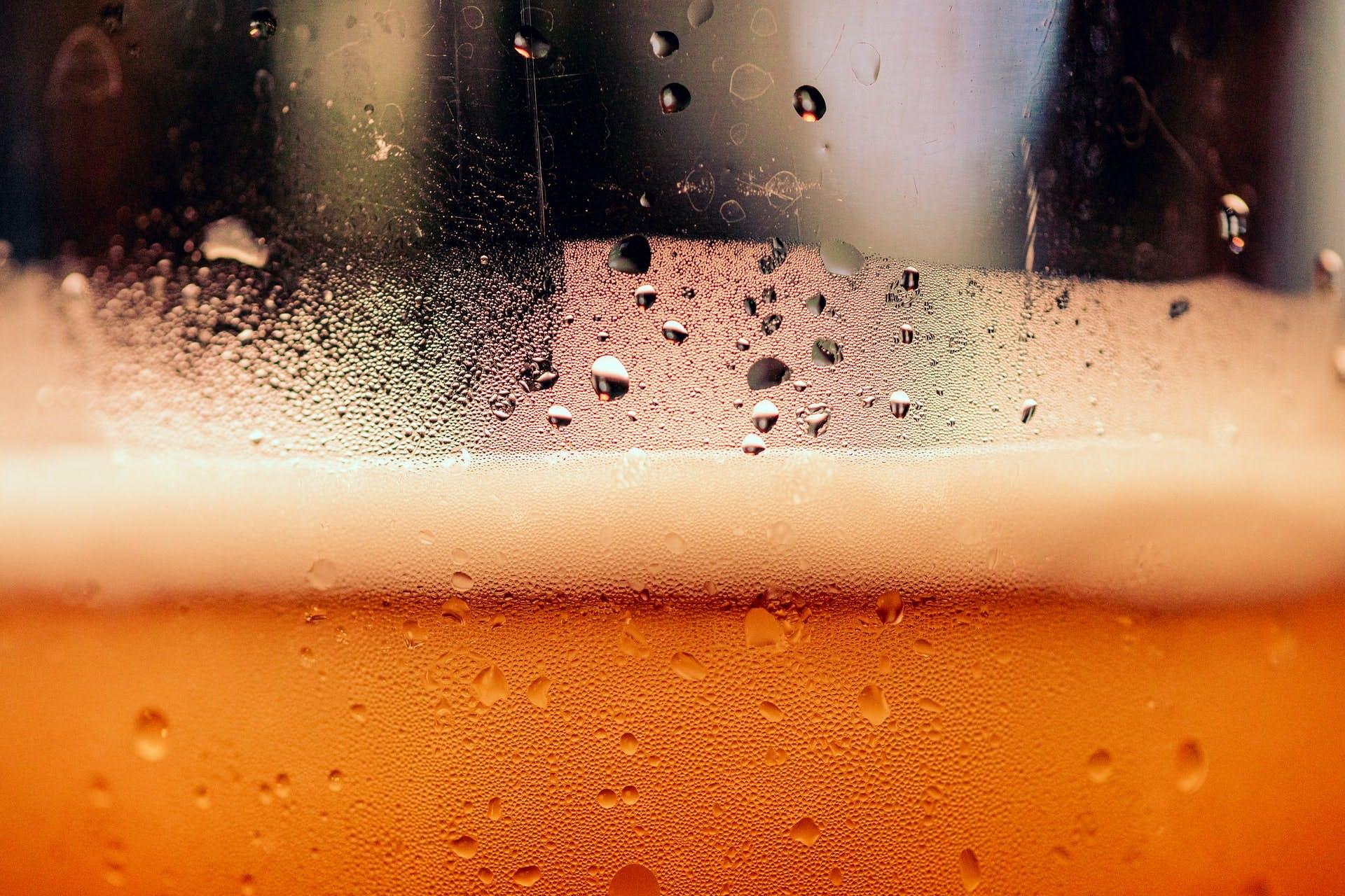 up close pint glass