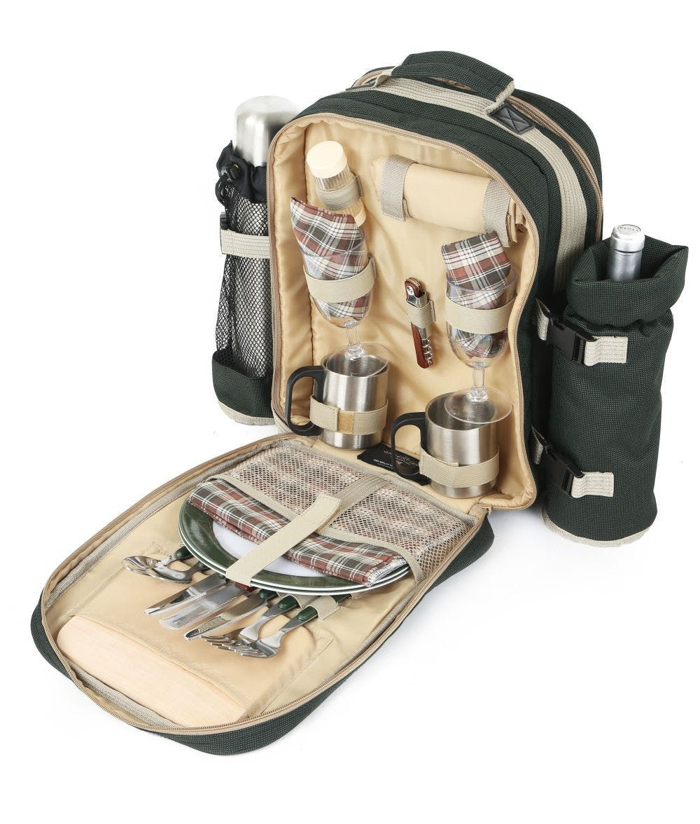 backpack and picnic set