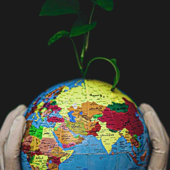 globe coronavirus gloves earth climate