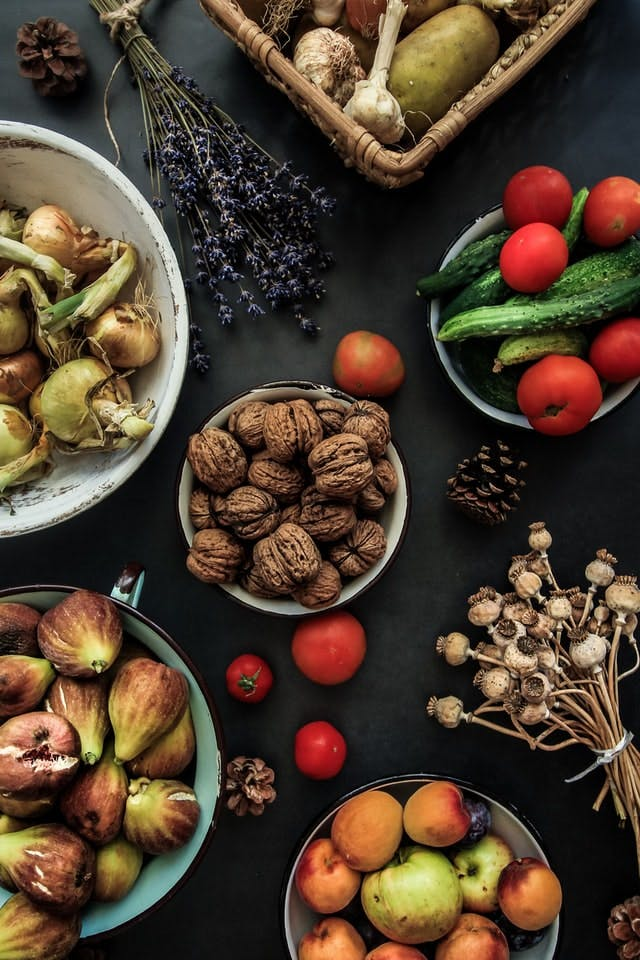 foraged produce