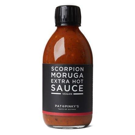 a darker bottle of hot sauce