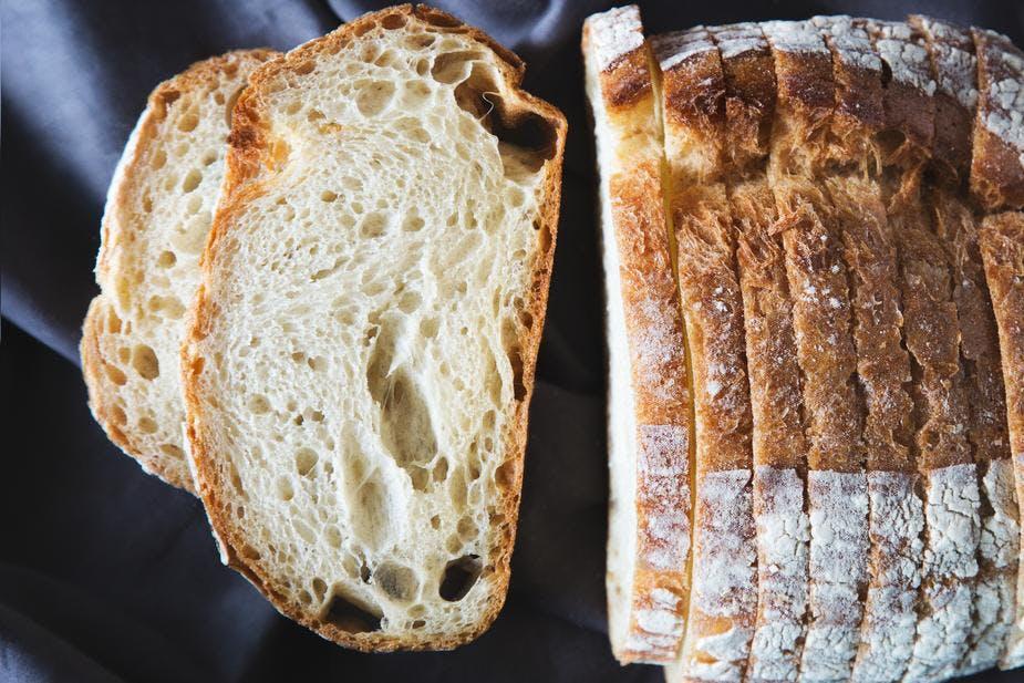 sliceed soda bread