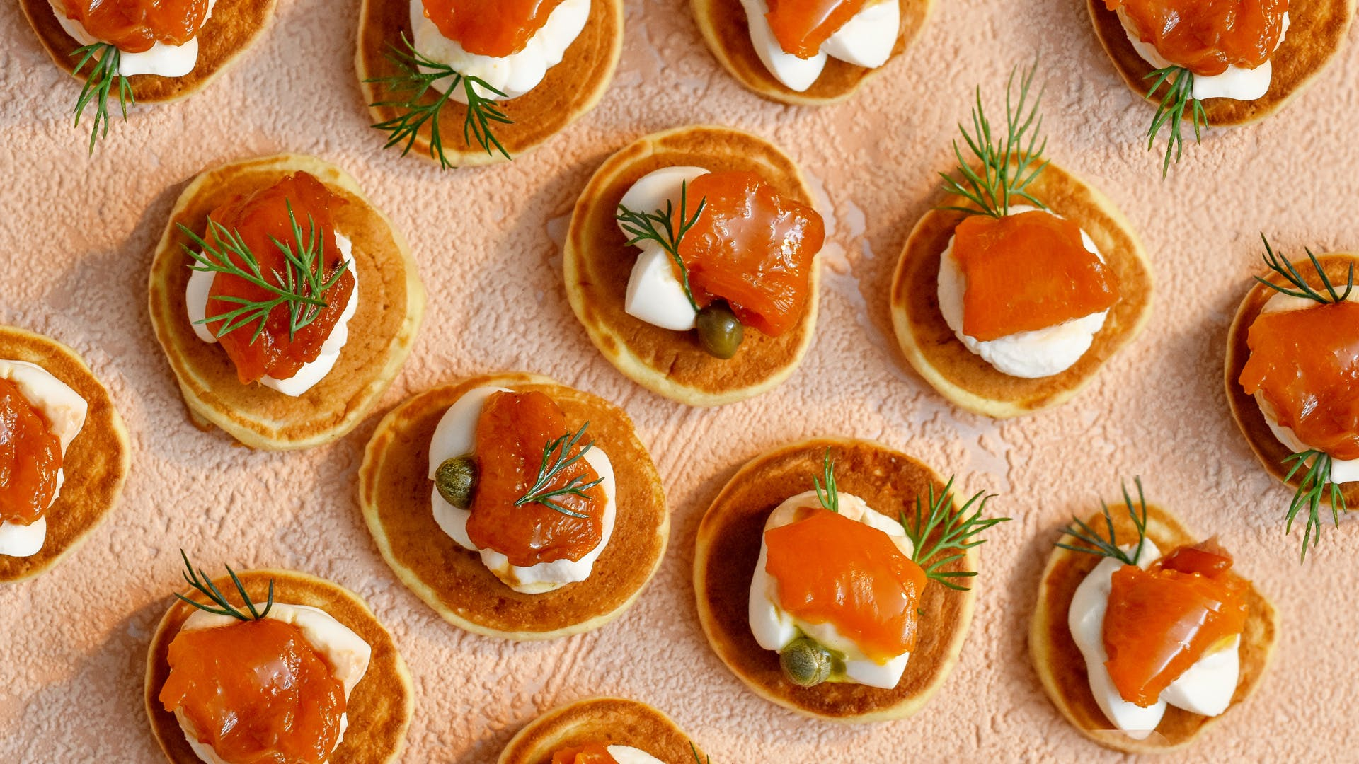 smoked salmon vegan blinis