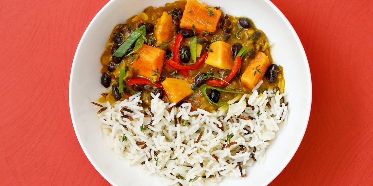 Sweet Potato and Black Bean Jamaican Curry image
