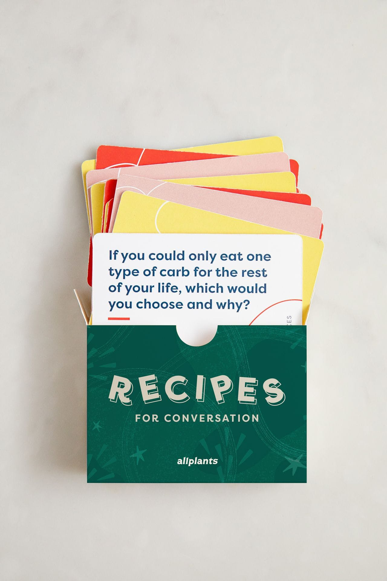 Recipe for conversation cards