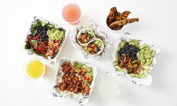 vegan spread of chilango street food