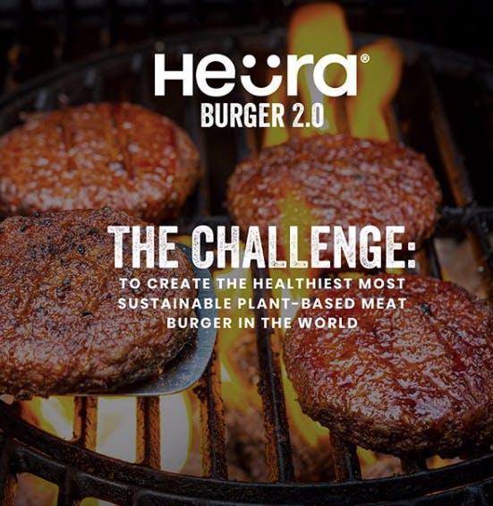 Heura burger patties on grill