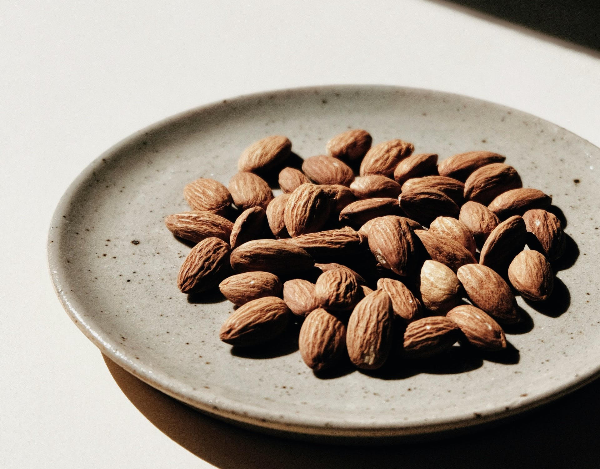 a plate of almonds