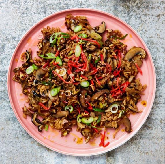 Meera Sodha's Shiitake Rice with chilli pecan oil