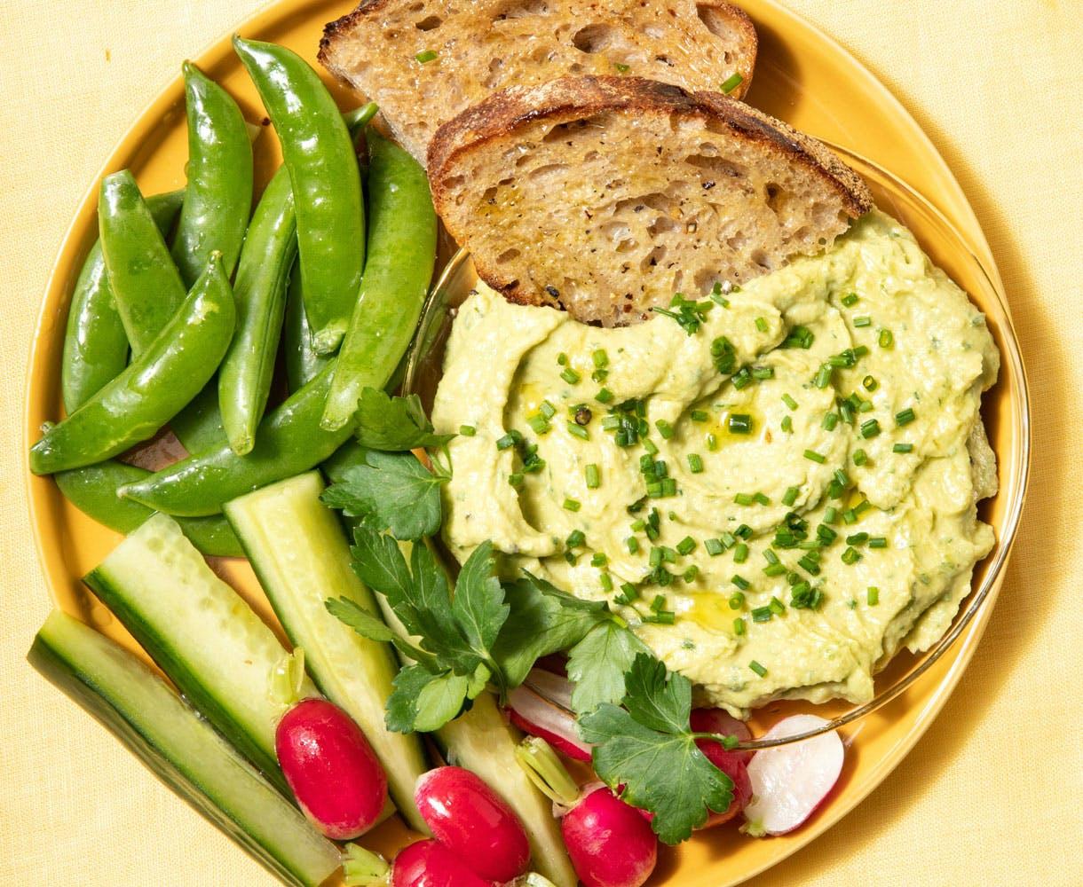 hummuds and veg