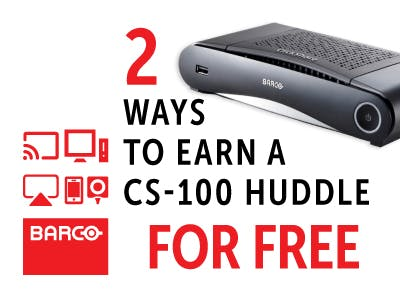 Barco - Two ways to earn a CS-100 Huddle