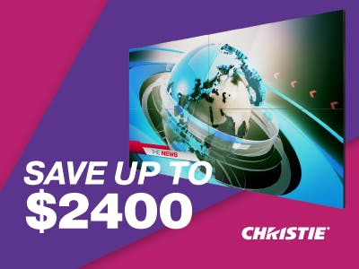 Christie Tiled Flat Panel Instant Rebate Promotion