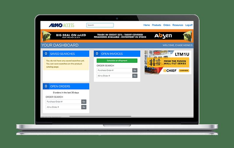 Almo Access Laptop Mockup