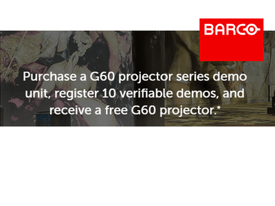 Barco - BOGO Projector Promo!  Two G60 demo units for the price of ONE