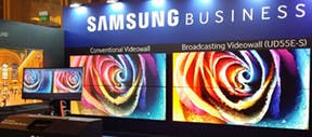 Video: Samsung Shows its Specialized Video Wall Display for Broadcast at Almo's E4 New York