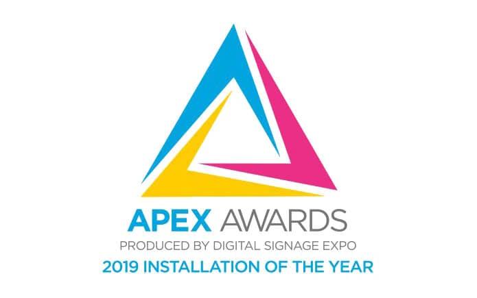 Absen Apex Award Winner. Installation Of The Year 2019.