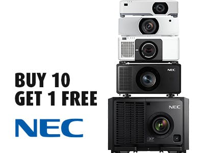 Buy 10 Projectors and Get 1 Free from NEC