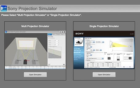 Projection Simulator and Lens Calculator