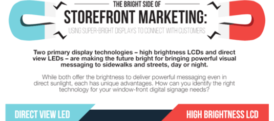 Infographic: Using Super-Bright Displays to Connect with Customers