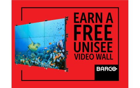Barco Earn A Free UniSee Video Wall Promo