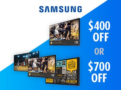 Save up to $700 on Samsung Pro TV Terrace Edition