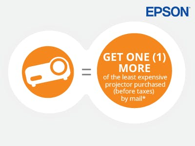 Buy 10 Epson Projectors and get 1 free
