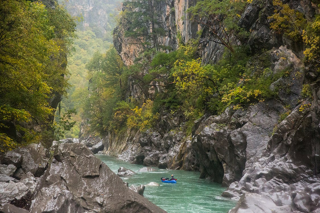Expring the threatened Aoos (aka Vjosa) River, Northern Pindos National Park, Greece. Photo by Andrew Burr.