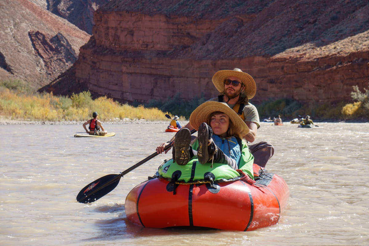 People packrafting together