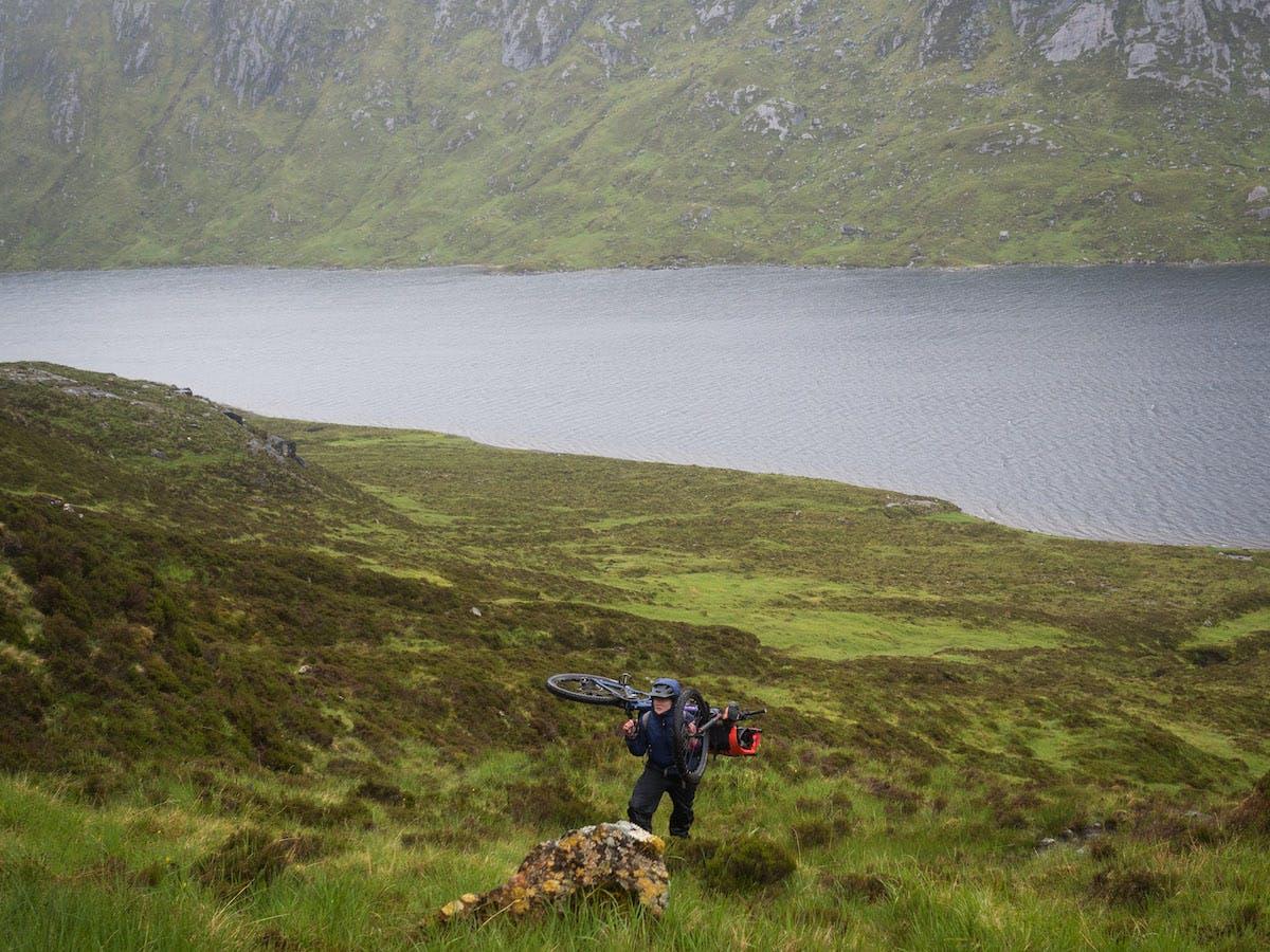 Bikepacking in the Scottish Highlands.