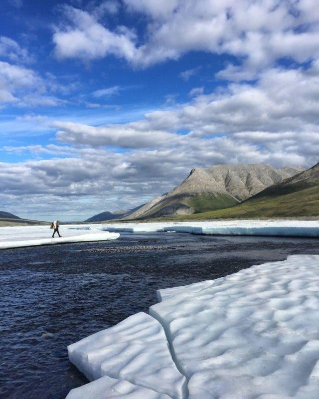 Tyler walking with the ice aufs by Karsten Foerster