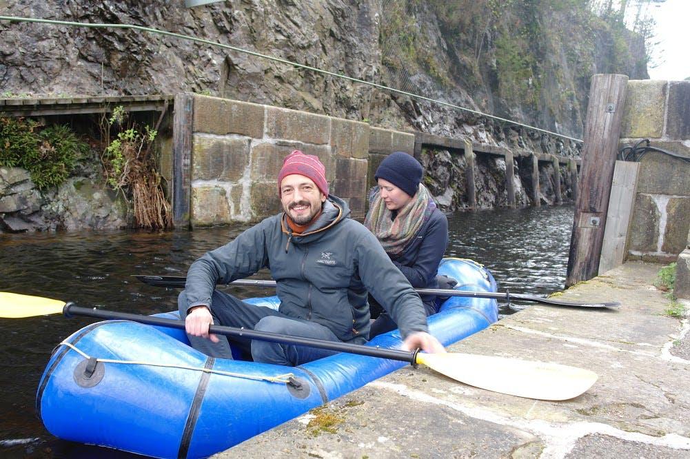 Urban Packrafting Dalsland Canal at Håverud, Sweden