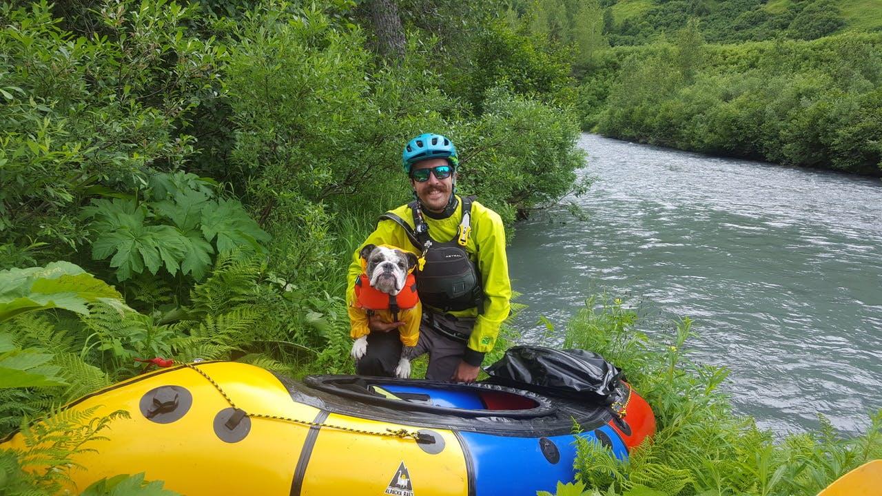 "Jordan Haffener: ""Greta Geared Up for Granite Creek: Greta's unbridled excitement before running Granite Creek in the Kenai mountains this summer"""