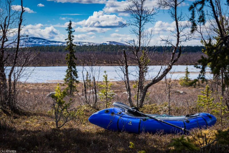 """""""I took this our second night camping on the long lake, Rijddeljávrre. This lake has a Sami-name. The first part of the lake was open, but the middle part was still with thick ice. We had a nice view to the mountains."""" - Caj Koskinen"""