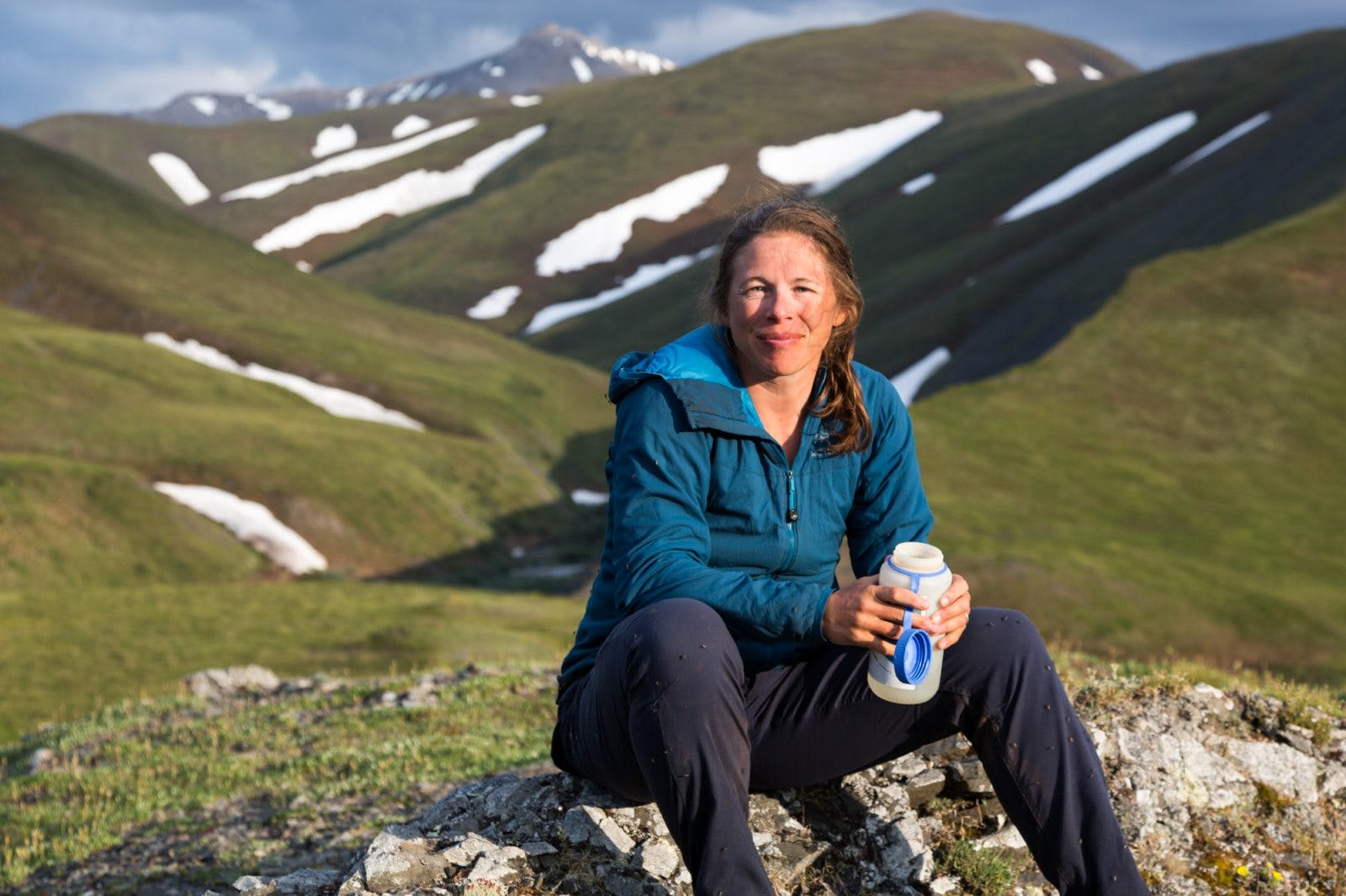 Sarah Histand in Western Brooks Range. Photo by Luc Mehl.