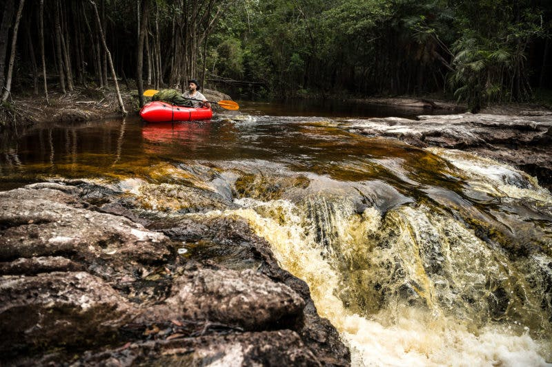 """According to Clot, he made good progress through the forest only when he was able use his self-bailing packraft. """"Whether on the Jau, Carabinani, Negro and Puduari rivers or in swamp areas, the raft has shown how useful it was for this type of exploratory mission."""" Of using the raft on his trip, Clot explains: """"The notion of effort is not to be underestimated under temperatures regularly reaching 40°C with 100% humidity (i.e it feels to the body like nearly 75°C according to the Humidex rate). Every move increases corporal physiology exhaustion, so using the raft is both a way to go faster and a means to feel more secure. Especially when alone and totally isolated."""""""
