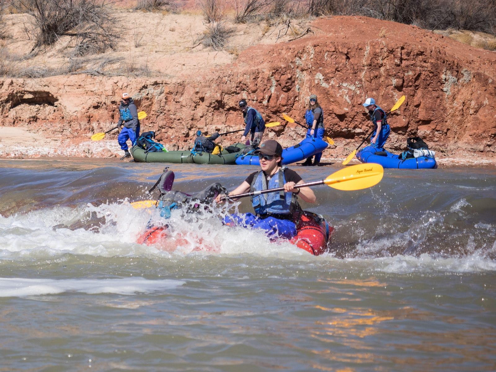 Lacey enjoying a little whitewater fun on the Colorado River.