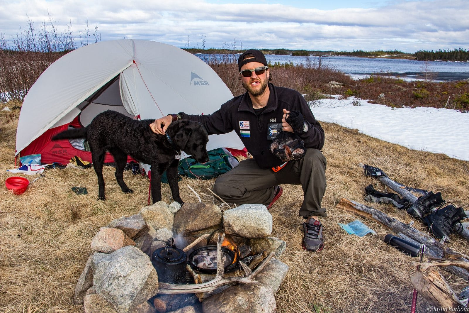"""""""This meal of fish (in the two photographs preceding this one) lasted us for lunch, supper, and breakfast. Saku would always get the first serving. Being only nine months old, he needed the most."""""""