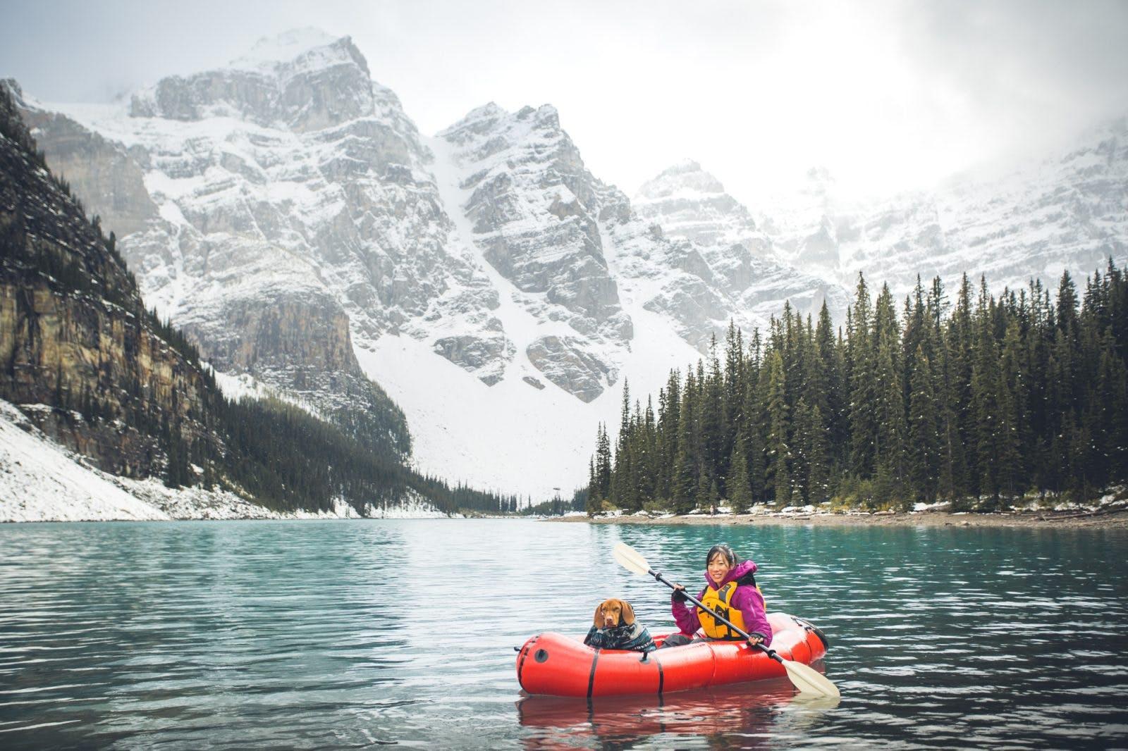 Lake Moraine, Banff National Park, Canada. Adele & Whiskey
