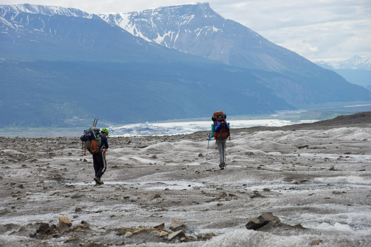 The Skolai-Nizina Packraft Traverse is a A 50-mile, off trail, wilderness traverse in Wrangell-St. Elias National Park. You must travel over glacier, through scrub & scree, and down the Nizina River to get back to civilization.