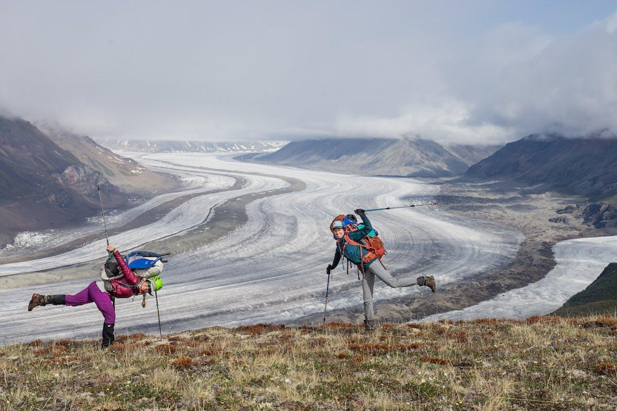 The 1.5-mile wide Nizina Glacier works itsmagic.