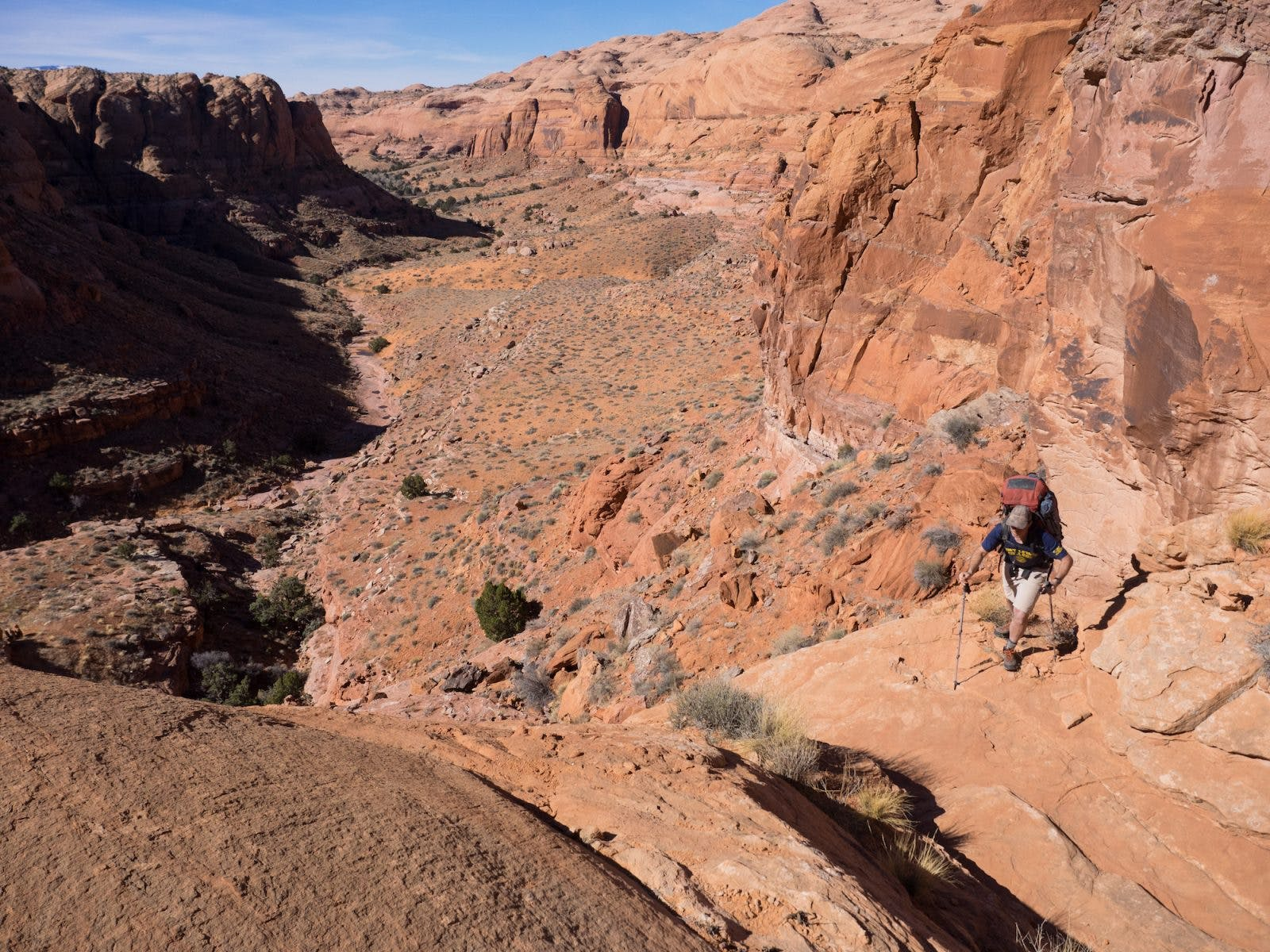 The old cowboy route was still intact allowing us to escape to the sea of domes above.