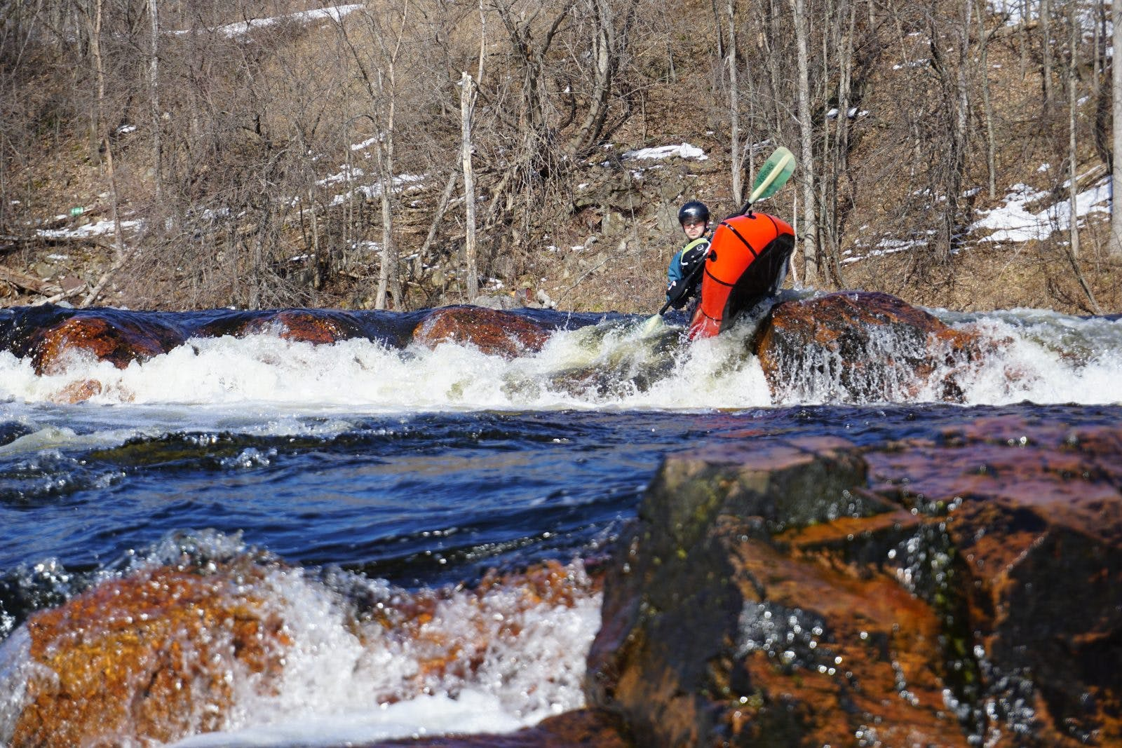 Alex LaLonde on the Redford River by Ted Teatrault