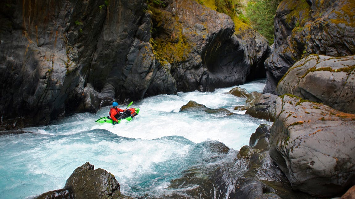 CEO Thor Tingey paddling some Class Hard water on the 45-mile Elwha River on the Olympic Peninsula, Wash. Photo by Pro Team Athlete Mike Curiak.