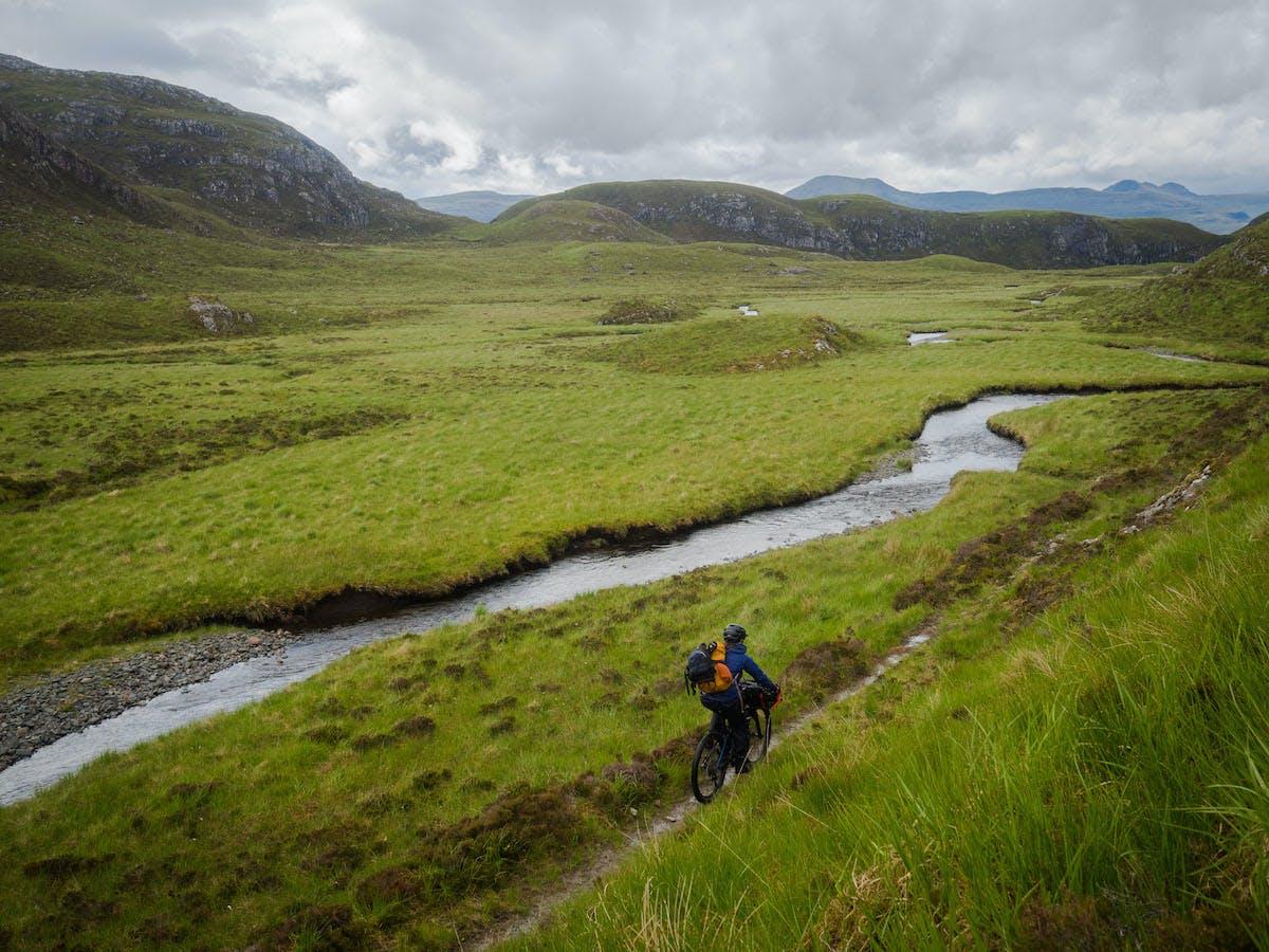 Bikerafting Loch Maree, Scotland.